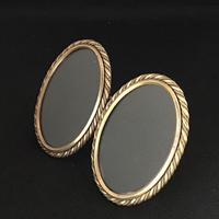 Victorian Brass Oval  Double Easel Photo Frame. (3 of 4)