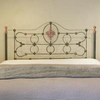 Cast Iron Antique Bed with Copper (9 of 9)