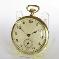 1930s Art Deco pocket watch, super sunburst dial (2 of 4)