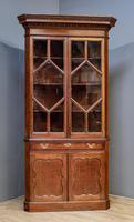 18th Century Oak & Mahogany Corner Cabinet (2 of 9)