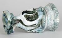 Sowerby / Edward Moore Marbled Slag Glass Gryphon Vase c.1880 (4 of 16)