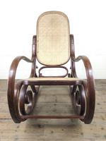 Bentwood Rocking Chair with Cane Seat (10 of 10)