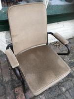 Three Vintage Metal Cinema Type Chairs (3 of 6)