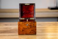 Single Amboyna French Tea Caddy c.1880 (2 of 11)