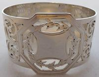 Boxed Set of 6 Sterling Solid Silver Napkin Rings Serviette Ring 173g c.1940 (2 of 6)