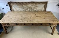 Superb Large 19th Century Pine Kitchen Table (7 of 10)