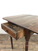 Small Victorian Welsh Oak Pembroke Table (16 of 18)