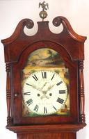 Antique Longcase Clock Fine English Oak Striking Grandfather Clock Painted Dial (4 of 10)