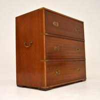 Antique Military Campaign Style Mahogany Chest of Drawers (9 of 10)