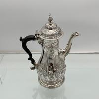 18th Century Antique George III Sterling Silver Rococo Coffee Pot London 1765 William & James Priest (3 of 10)