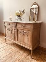French Antique Oak Cupboard / Cabinet with Marble (2 of 10)