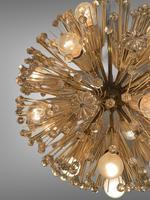 Vintage Mid Century Chandelier Sputnik Emil Stejnar Dandelion Style 16 Lights (3 of 7)