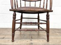 Antique Desk Chair with Leather Seat (6 of 10)