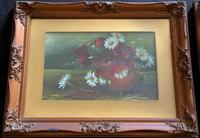 Attractive Matching Pair of 19th Century Oil Paintings Floral Still Life Study (4 of 8)