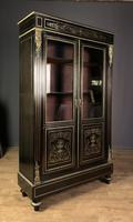 French Napoleon III Inlaid Brass Bookcase (6 of 11)