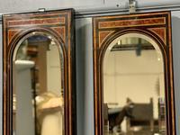 Pair of Amboyna & Ebonised Pier Mirrors (6 of 9)