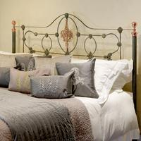 Cast Iron Antique Bed with Copper (2 of 9)