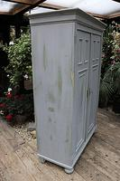 Fabulous Old Pine & Grey Painted Wardrobe / Hall / Kitchen Cupboard - We Deliver! (4 of 12)