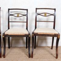 4 Regency Ebonised Dining Chairs Trafalgar (5 of 12)