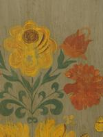 Antique Swedish Style Painted Folk Art Wardrobe Armoire (4 of 22)