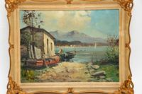 Antique Italian Landscape Oil Painting by Tardini (3 of 10)