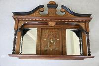 Victorian Inlaid Rosewood Overmantle Mirror Shelf (2 of 12)