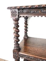 Antique Victorian Carved Oak Three Tier Display Shelves (8 of 10)