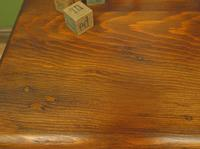 Small Antique Pine Table with Drawer, Very Small Desk (13 of 13)