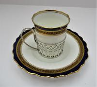 Aynsley Bone China Coffee Cup & Saucer, Silver Mount, Adie Bros Ltd, Birmingham 1930 (2 of 9)