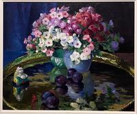 """Very Pretty Oil on Board """"Phlox"""" by Edward Hartley Mooney (4 of 4)"""