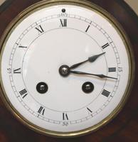 Edwardian Mahogany Arch Top Mantel Clock (6 of 10)
