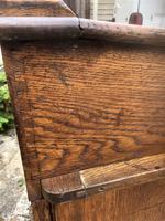 Antique Oak Clerk's Desk with Cupboard (4 of 11)
