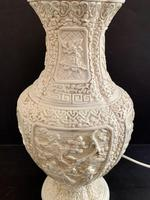 Pair of Plaster Moulded Lamp c.1930 (2 of 5)