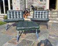 Pair of Barcelona Chairs & Ottoman (30 of 30)
