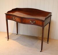 Mahogany Serpentine Front Side Table (6 of 10)