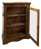 Victorian Walnut & Marquetry Inlaid Side Cabinet (2 of 6)