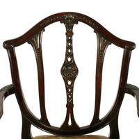 Pair of Hepplewhite Style Elbow Chairs (5 of 8)