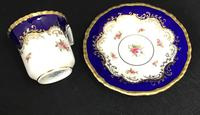 Beautiful Set of 6 Victorian Coalport Floral Decorated Coffee Cans & Saucers (4 of 7)