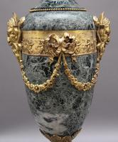Pair of 19th Century French Marble & Cassoulet Urns (8 of 13)