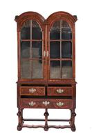Queen Anne Revival Walnut Double Dome Display Cabinet c.1880 (2 of 5)