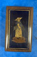 Victorian  Miniature Italian Sorrento Olive Wood Snuff Box (3 of 12)
