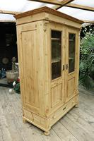 Fabulous Old Pine 'Knock Down' Glazed Display Cabinet (3 of 10)