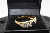 18ct Gold, Diamond & Sapphire Ring, size U, weighing 4.6g (3 of 8)