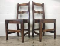 Pair of Antique Oak Bar Back Farmhouse Chairs (12 of 14)