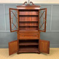 Edwardian Inlaid Mahogany Secretaire Bookcase (3 of 21)