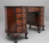 Superb Quality Edwardian Mahogany Kidney Shaped Desk (11 of 12)