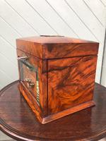 Antique Burr Walnut Ladies Jewellery Box (2 of 9)