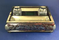 Georgian  French Ornate Boulle Inkstand