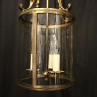 French Gilded Brass Triple Light Antique Lantern (8 of 10)