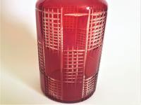 A Lovely Ruby Glass And Silver Plate Wine Bottle (3 of 5)